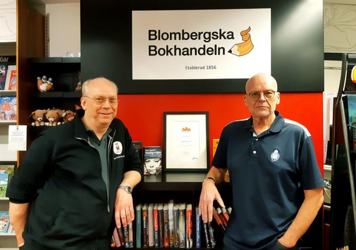 Bokhandlarna Olle och Per Nelzén.