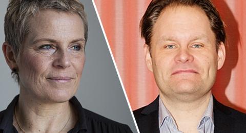 Maria Edsman och Håkan Rudels siade om bokbranschens framtid