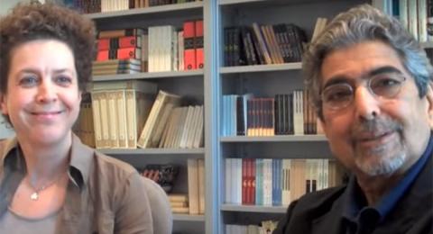 Eva Gedin och Sonny Mehta i samtal om Stieg Larsson.