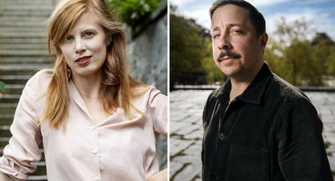 Lydia Sandgren och David Sundin.