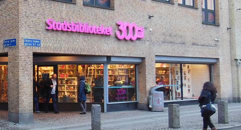 Stadsbiblioteket 300m2 var ett av Göteborgs bibliotek som kunde komma att stängas ner.