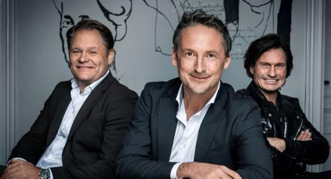 Hådan Rudels, vd på Bonnier Books, Alexander Henriksen, chef på Strawberry och Petter Stordalen, en av Strawberrys grundare.